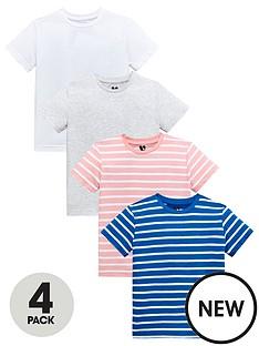 mini-v-by-very-boys-4-pack-marl-and-slub-stripe-tees