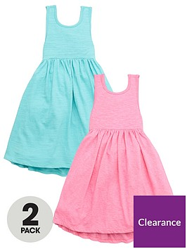 mini-v-by-very-girls-2-pack-back-bow-detail-dresses-pinkblue