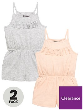 mini-v-by-very-toddler-girls-2-pack-fringe-detail-playsuitsnbsp--multi