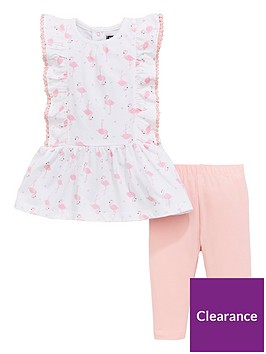 mini-v-by-very-flamingo-frill-tunic-amp-legging-set-whitepink