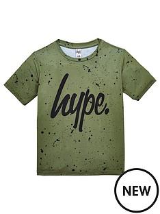 hype-boys-short-sleeve-khaki-speckly-t-shirt