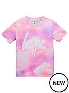 hype-girls-short-sleeve-cloud-print-t-shirt