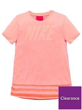 nike-older-girls-short-sleeve-dry-top-pink