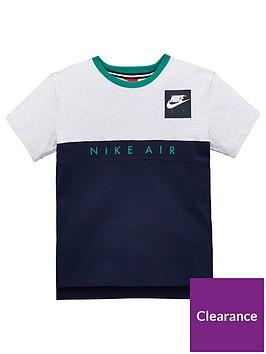 nike-older-boys-short-sleeve-air-top-grey-heathergreennbsp