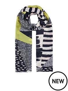 accessorize-textured-patchwork-scarf
