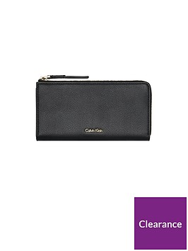 calvin-klein-downtown-large-ziparound-purse-black