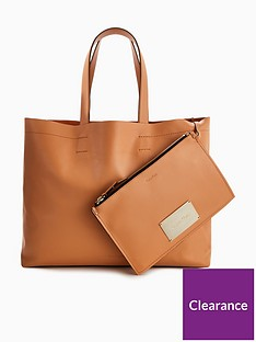 calvin-klein-leather-shopper-tote-bag-ndash-tan