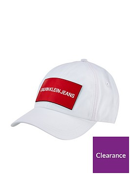 calvin-klein-logo-cap-whitenbsp