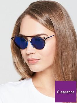 4288e046ae95 Calvin Klein Brow Bar Sunglasses - Blue   littlewoods.com