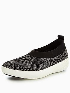 fitflop-uberknit-slip-on-ballerina-with-bow-black
