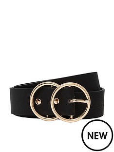 river-island-double-circle-belt--black