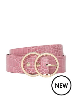 river-island-double-circle-belt--pink