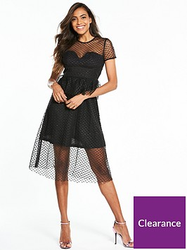 lost-ink-structured-bust-cup-fit-and-flare-dress-black