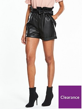 lost-ink-paper-bag-waist-short-black