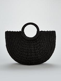 v-by-very-circle-handle-straw-beach-bag-black