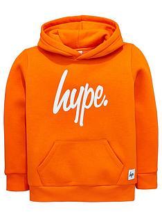 hype-boys-orange-script-hoodie