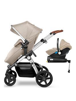 silver cross wave pushchair, car seat & base bundle