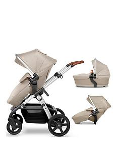 silver-cross-wave-pushchair-tandem-seat-and-additional-carrycot-bundle