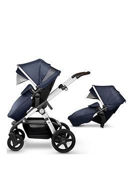 silver cross wave pushchair & tandem seat bundle