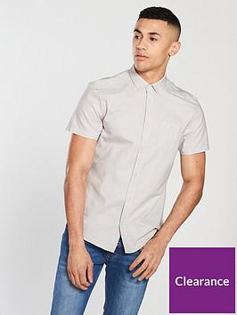 v-by-very-short-sleeve-oxford-shirt-stonenbsp