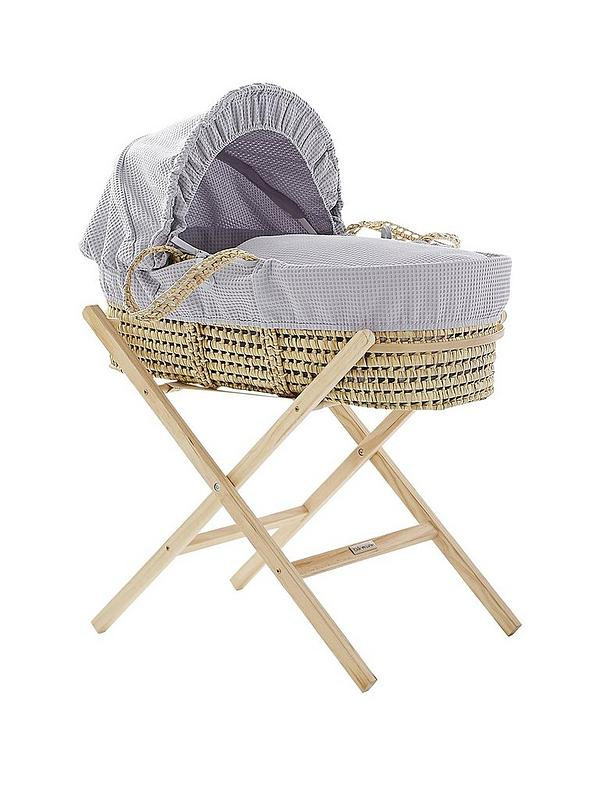 Clair de Lune Self Assembly Natural Moses Basket Folding Stand