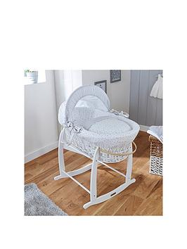 Clair De Lune Clair De Lune Stars &Amp; Stripes Wicker Moses Basket -  ... Picture