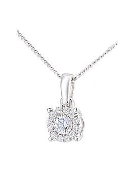 love-diamond-love-diamond-9ct-white-gold-10-point-diamond-25-point-look-solitaire-cluster-pendant