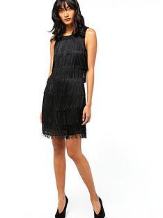 monsoon-fabienne-fringe-dress-black