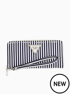 guess-sawyer-large-purse-blue-stripe