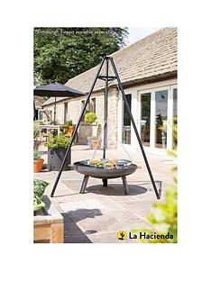 la-hacienda-tripod-outdoor-cooker-with-adjustable-height-grill