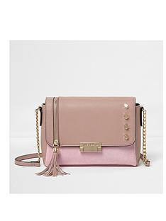 river-island-river-island-pink-stud-tassle-cross-body-bag