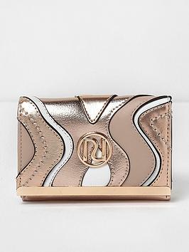 river-island-river-island-rose-gold-mini-cliptop-purse