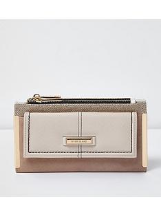 river-island-beige-zip-foldout-purse