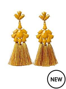 river-island-river-island-mustard-enamel-tassel-dangle-earrings