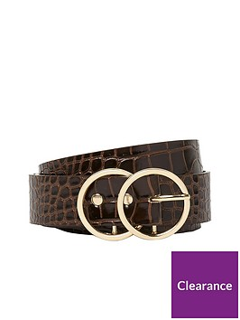 river-island-double-circle-brown-belt