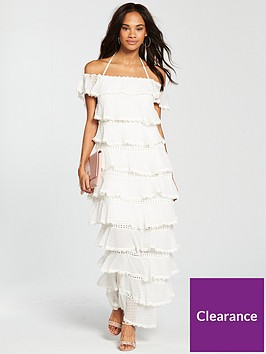 v-by-very-tiered-lace-trim-midaxi-dress-ivory