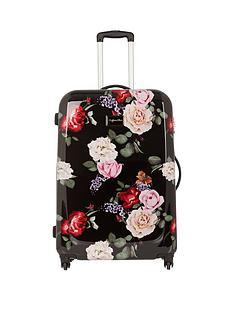 myleene-klass-myleene-klass-4-wheel-black-floral-large-case