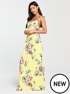 vila-tetrinbspfloral-printed-maxi-dress-yellow