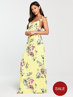 vila-tetrinbspfloral-printed-maxi-dress-yellow