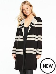 wallis-stripe-double-faced-coatigan-blackstone