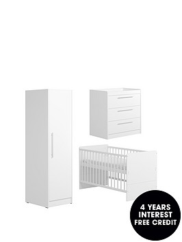 little-acorns-portofino-cot-bed-dresser-and-single-wardrobe-white