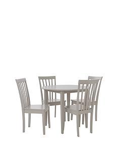 sophia-90-cm-round-dining-set-4-chairs-grey