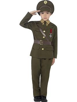Very Child Army Officer Costume Picture