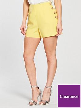 miss-selfridge-high-waist-suit-shorts