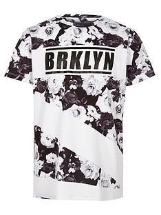 river-island-boys-mono-lsquobrkylnrsquo-floral-print-t-shirt