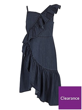 river-island-girls-blue-denim-asymmetric-frill-dress