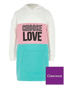 river-island-girls-green-colour-block-lsquoloversquo-hoodie-dress