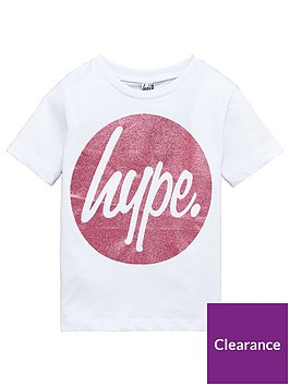 hype-girls-short-sleeved-pink-circle-glitter-t-shirt