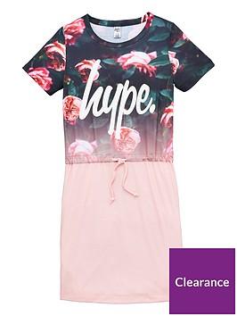 hype-girls-rose-fade-t-shirt-dress