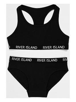 river-island-girls-black-branded-crop-top-amp-briefs